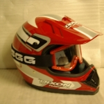 Dixon moto-cross helmet red FREE goggles